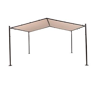 SORARA Garden Gazebo Soft Top Outdoor Shelter Canopy Gazebo Pavilion, 13'x 13', Sand