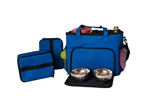 Armarkat Model CL101B Dog Travel Bag with Food Carriers