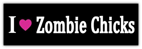 I love zombie chicks sticker decal 8
