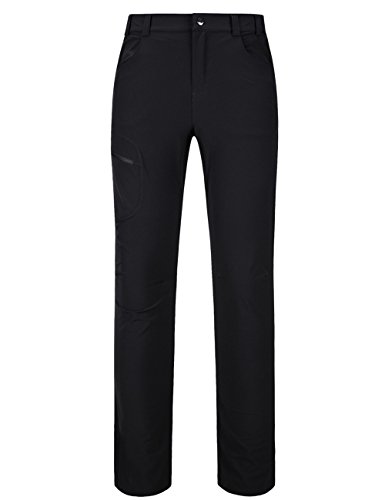 Pants Ladies Golf (Yifun Outdoor Womens Water-Resistant Quick Dry Golf Sports Pants Black)