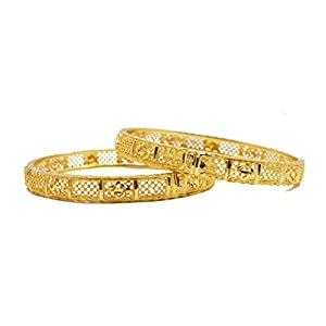 Manik Fashion Jewellery Gold Plated Bangles for Women