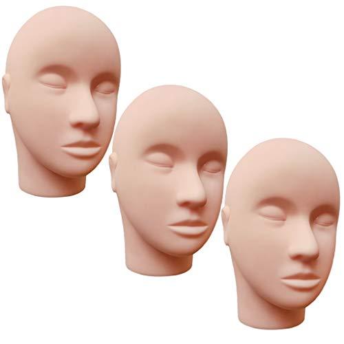 Perfeclan シリコーン マネキンヘッド モデル まつげエクステンション マッサージ メイクアップ 練習用