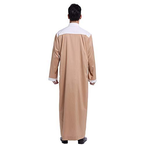 YKARITIANNA Mens Big Boys Winter Spring Medium Length Zipper Solid Hoodie Quilted Cotton Outwear Coat