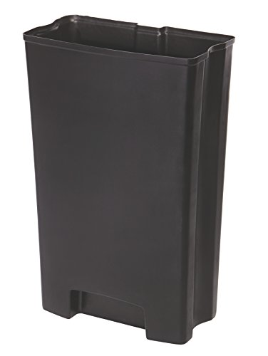 Rubbermaid Commercial Slim Jim Front Step-On Trash Can Rigid Liner, Plastic, 18 Gallon