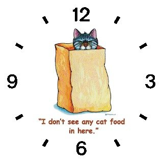 Tabby Cat in Brown Paper Bag - Cat Cartoon or Comic - JP Animal - WATCHBUDDY DELUXE TWO-TONE THEME WATCH - Arabic Numbers - Black Leather Strap-Size-Women's Size-Small