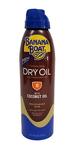 Banana Boat Continuous Spf#08 Spray Dry Oil With Argan Oil 6 Ounce (177ml) (3 Pack)