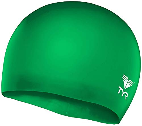 TYR Wrinkle Free Junior Silicone Cap, Apple Green