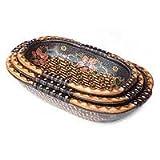 Wood batik bowls, 'Indonesian Paradise' (set of 3)