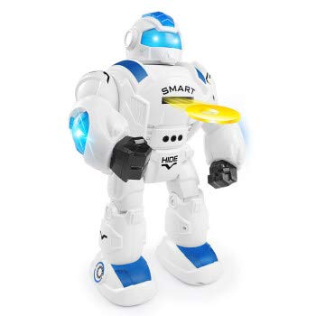 EMONO Interactive Robot with DISC Shooting Talking Walking with Remote Control. Good Companion for Kids Above 3 Years