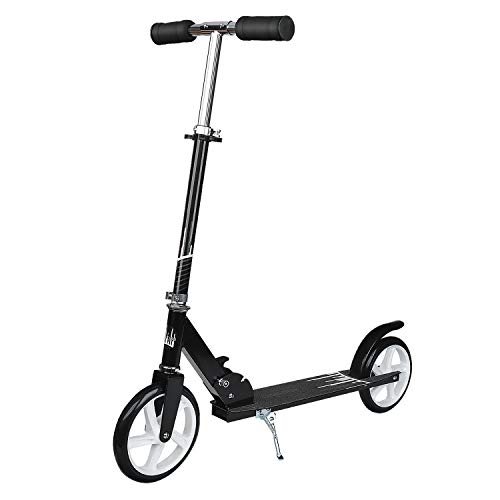 UHINOOS Adults Kick Scooter 200MM with Kickstand-Big Wheels Kids Scooter with Easy Folding System for Teenager ()