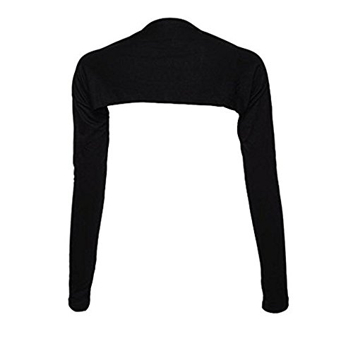 YEESAM Bolero Shrug Womens Long Sleeved Bolero-style Arm Sleeves - Hijab Accessories (black)