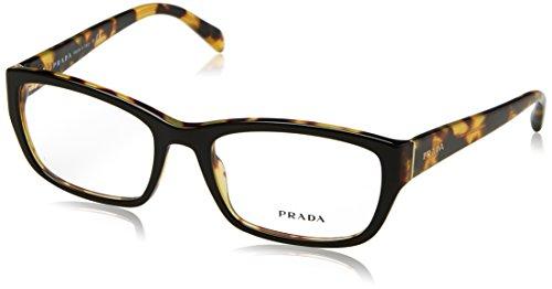 Prada PR18OV Eyeglass Frames NAI1O1-54 - Top Black/Medium Havana PR18OV-NAI1O1-54 by Prada