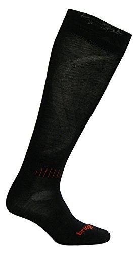 (Bridgedale Men's Race Fit Ski Socks, Black/Orange, Medium)