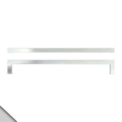 IKEA - METRIK Drawer/Cabinet Door Handle, Stainless Steel Color (2) (Ikea Bar Cabinet)