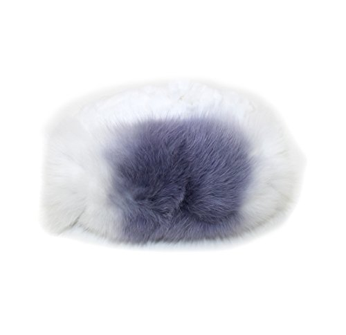 712019 New Knit Knitted White Purple Rex Rabbit Fox Fur Hat Head Accessory by Bergama