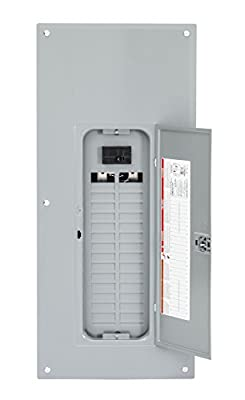 Square D by Schneider Electric HOM3060M100PC Homeline 100 Amp 30-Space 60-Circuit Indoor Main Breaker Load Center with Cover (Plug-on Neutral Ready), ,