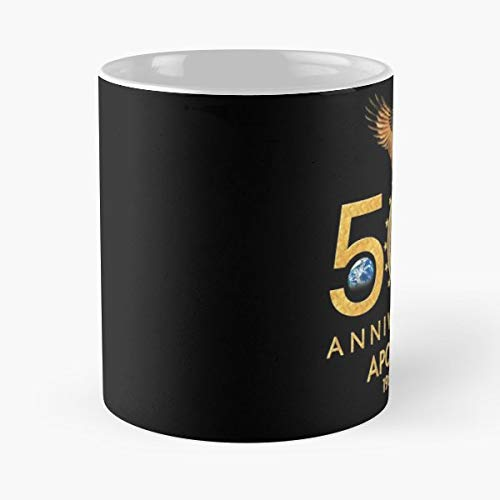 Apollo 11 Moon Landing 1969 50th Anniversary - Funny Gifts For Men And Women Gift Coffee Mug Tea Cup White-11 Oz.