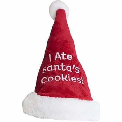 Outward Hound I Ate Santa S Cookies Santa Hat Medium