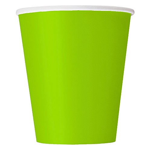9oz Neon Green Paper Cups, 14ct