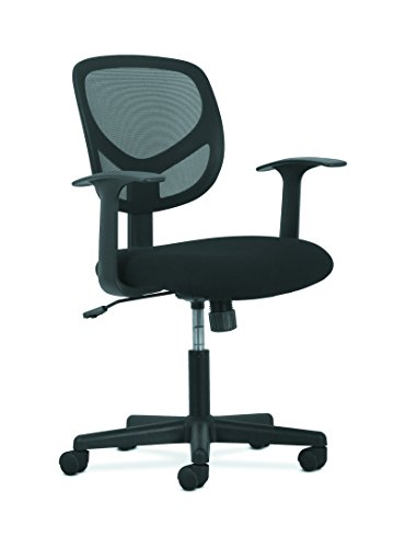 Series Mid Back Fabric Chair (HON Sadie Swivel Mid Back Mesh Task Chair with Arms - Ergonomic Computer/Office Chair (HVST102))