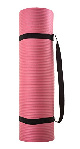 silly.con Fit & Fun 14013 – fitness- en yogamat met draagriem, roze, van NBR – rubber, ca. 173 x 61 x 1 cm