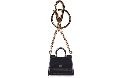 Dolce&Gabbana women's steel keychain key holder black by Dolce & Gabbana
