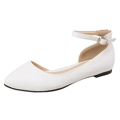Shoes Coolcept Pumps Plano Mujer Comodo White Iqq46Uw
