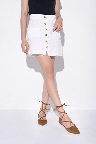 Mila Lady Laura New Fashion Cinturino Alla Caviglia Con Punta A Punta Per Donna, Cammello