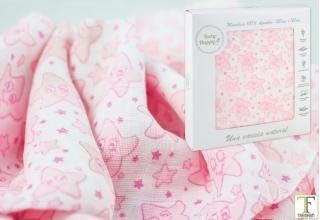 Baby Happy Muselina Grande 120x120 Algodón 21248 Rosa: Amazon.es ...