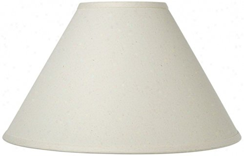 Upgradelights Chimney Style Oil Lamp Shade 10 Inch Eggshell Linen (4x10x7) Chimney Shade