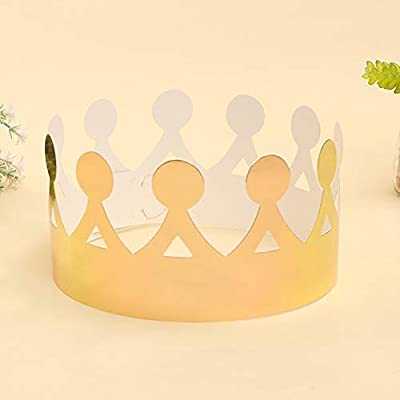 Wifehelper 25 Corona de Papel Sombrero de Cumpleaños ...