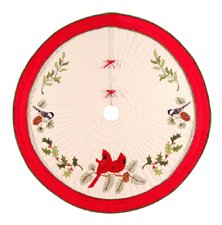 C&F Home Holiday Song Birds Quilted Tree Skirt, 54-Inch