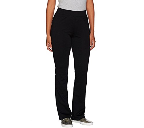Isaac Mizrahi Soho Bootcut Double Knit Pants Elastic Fitted Black XS New (Bootcut Double Knit)