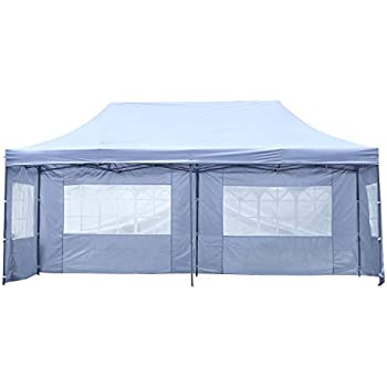 Amazon.com : Pupzo 10x20 Pop up Canopy Carport, Party Tent ...