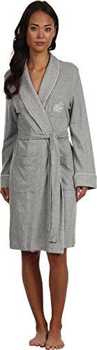 - LAUREN Ralph Lauren Women's Essentials Quilted Collar and Cuff Robe, Grey Heather, MD (US 8-10)
