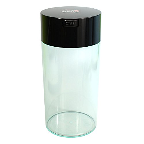 Tightvac - 5oz to 24 ounce Vacuum Sealed Container - Clear Body/Black Cap