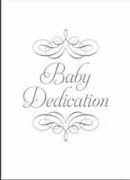 Certificate - Baby Dedication (Silver Foil - Premium Stock 5x7) (Pack of 6) by Warner Press