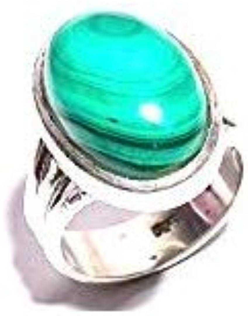 mughal gems & jewellery Anillo de Plata esterlina 925 Anillo de joyería Fina de Piedras Preciosas de malaquita Natural para Mujeres y niñas (Tamaño 7.25 U.S)