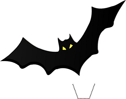 12 x HALLOWEEN Bat Silhouette Edible Standup Wafer Paper Cake Toppers (5 - 10 BUSINESS DAYS DELIVERY FROM UK) ()