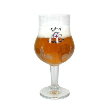 Tripel Karmeliet Belgian Beer Chalice Glass Belgian Trappist Beers