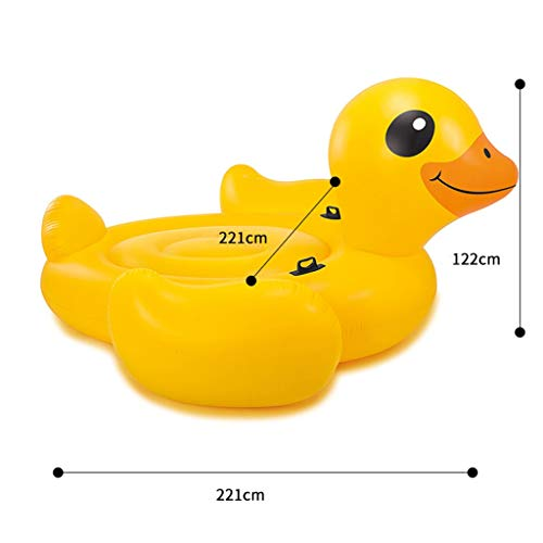 SUN HUIJIE Floats Giant Inflatable Tropical Duck Pool Float - Fun Kids Swim Party Toy - Summer Lounge Raft (Size : 221221122cm) by SUN HUIJIE (Image #1)