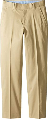 Tommy Hilfiger Big Boys' Fine Twill Pant, Medium Khaki, 20