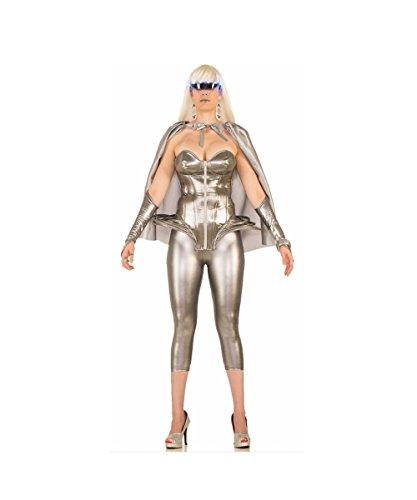 Forum Women's Molten Metal Corset Top Adult Costume, silver, Standard ()