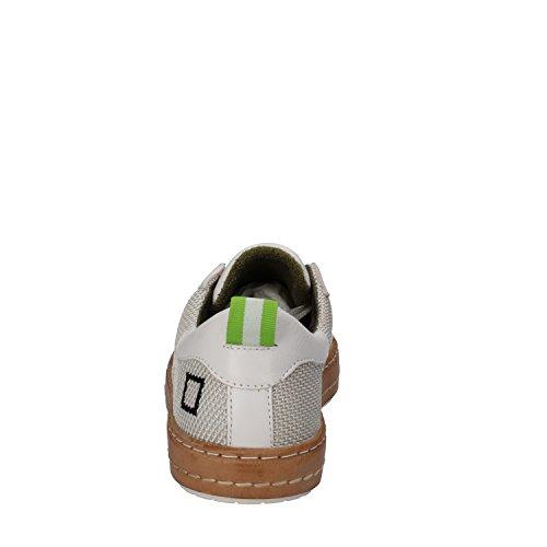 D.A.T.E. Sneakers Donna Bianco Tessuto Pelle AE582