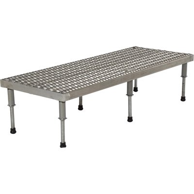 Vestil Adjustable Serrated Work-Mate Stand - 60in.W x 24in.D, Stainless Steel, Model# AHW-H-2460-SS