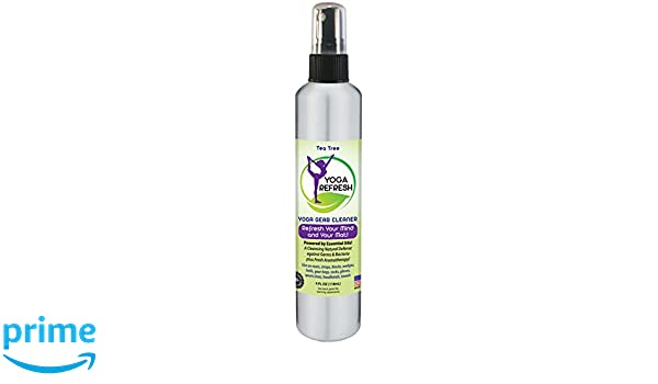 Natural Essential Oil Yoga Mat Cleaner, With Calming Aromatherapy Essence - SAFE FOR All Mats, Blocks, Straps and More - Cleans all Yoga Gear to a ...