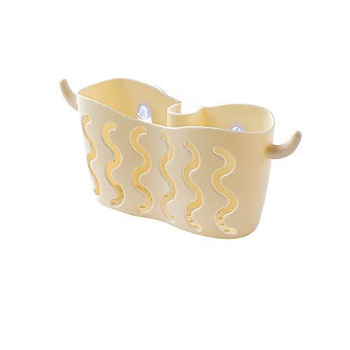 sun·light Dish Cloths Rack Suction Sponge Holder Clip Rag Wall Mounted Storage Rack Bathroom Kitchen Shelves (Beige)