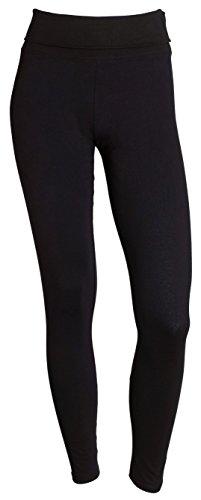 Sportoli Womens Active Athletic Fitness Yoga Pants Running Workout Gym Leggings - Black (Large)
