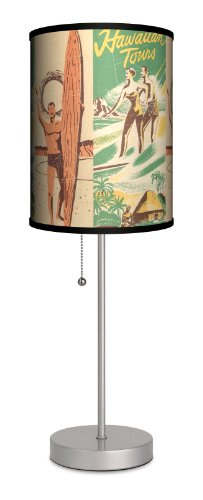 Sports - Surfing Hawaiian Tours Sport Silver Lamp