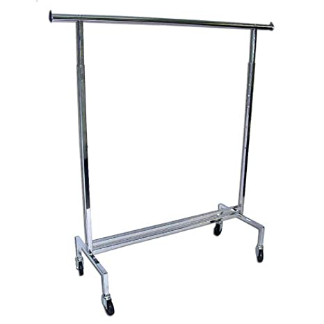 Amazon.com: Single Rail Rolling Prendas de vestir ropa rack ...